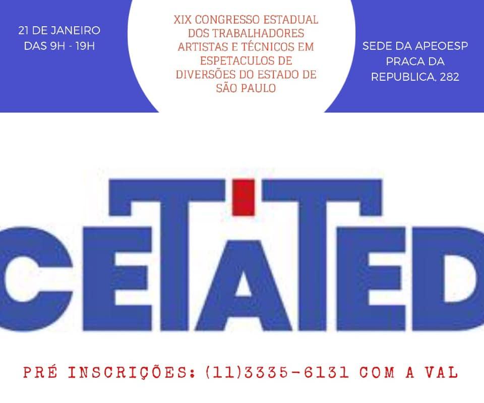 XIX Congresso Estadual dos Artistas e Técnicos de Espetáculos do Estado de São Paulo