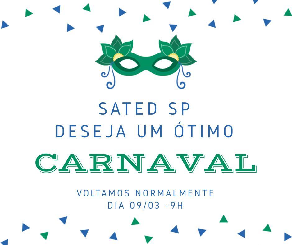 Sated – SP retoma atendimento quinta feira 07/02