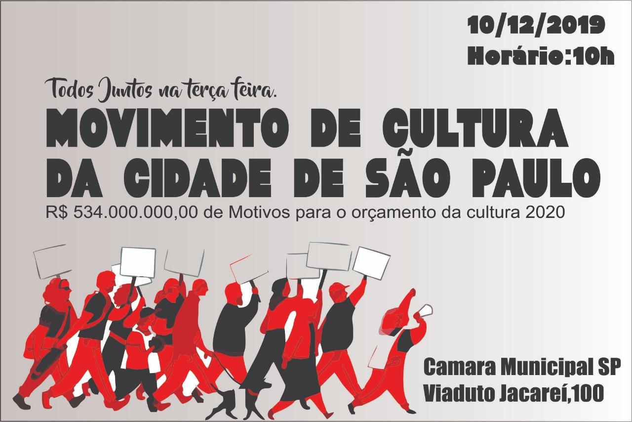 Votação do relatório do orçamento para a Cultura da Cidade de São Paulo