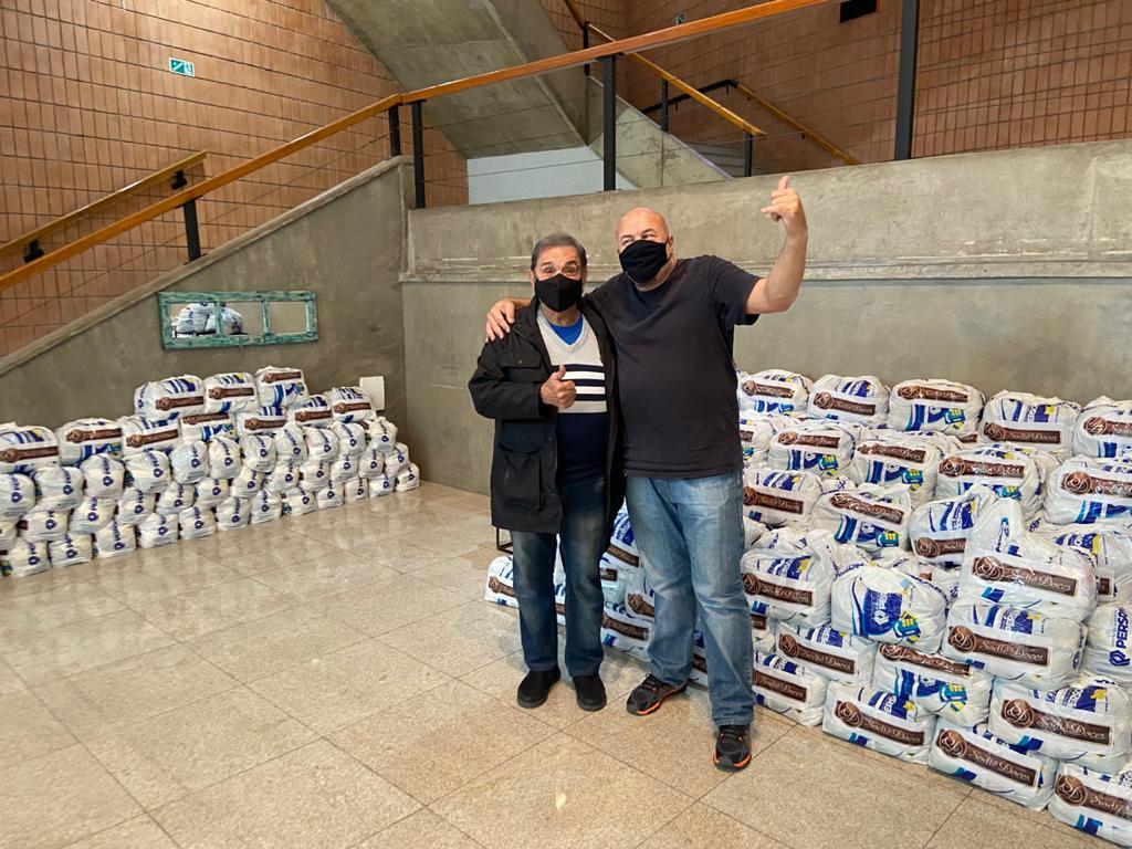 Fundo Social Sated – SP recebe doações de cestas