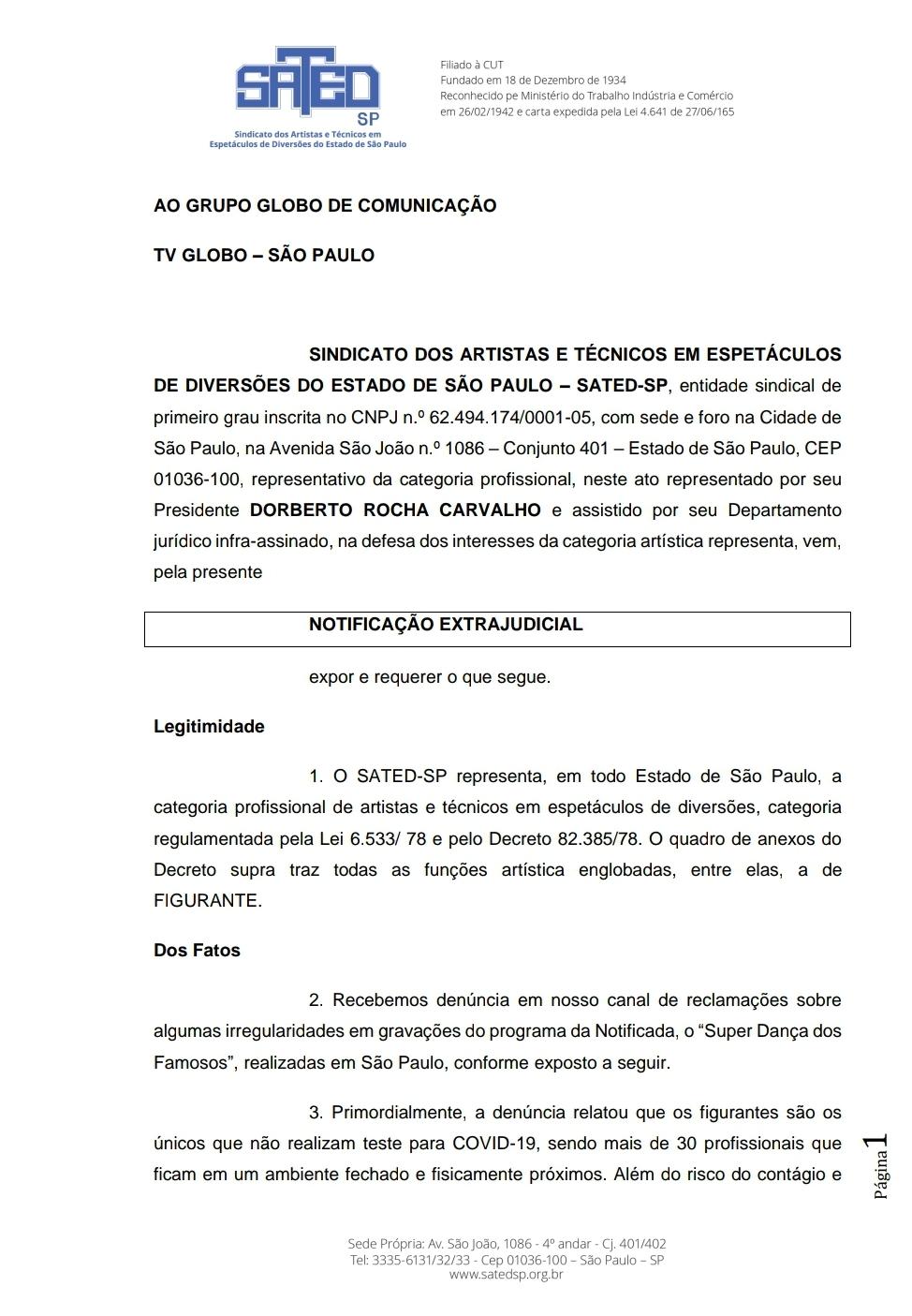 Denúncia: Globo põe figurantes em auditório sem testar para Covid 19