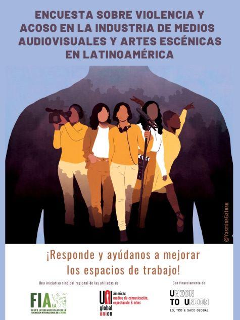 Pesquisa sobre Violência e Assédio nos espaços de trabalho nos Meios de Comunicação Audiovisuais e Artes Cênicas na América Latina